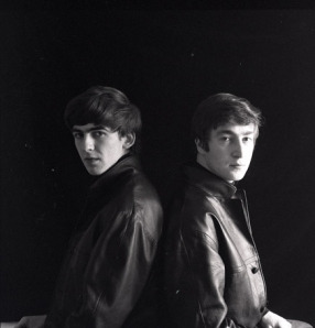 John & George on an attic in Hamburg