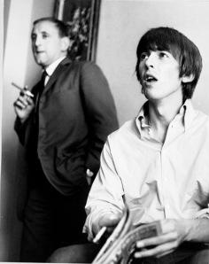 George Harrison and Ivor Davis