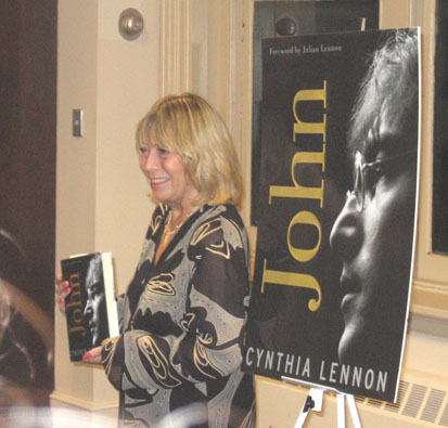 "Cynthia Lennon at a book signing for ""John"" in New York, October 2005."