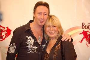 Julian and Cynthia Lennon at Beatles LOVE show premiere in Las Vegas in 2006. Photo by Shelley Germeaux for Daytrippin'