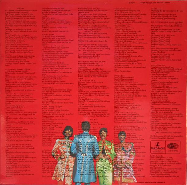 sgt pepper back cover