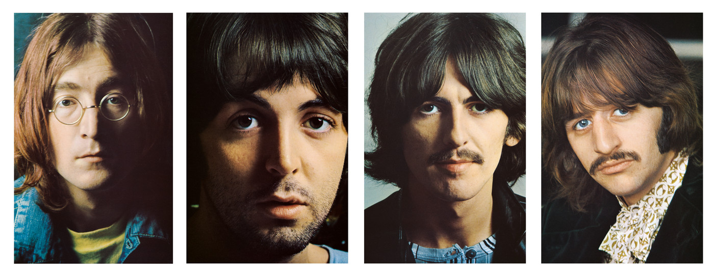 The Beatles White album color inserts