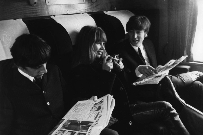 Photo of John LENNON and Astrid KIRCHHERR and BEATLES